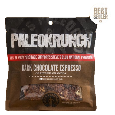 Steve\'s PaleoGoods Dark Chocolate Espresso PaleoKrunch Bar