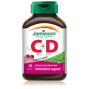 Jamieson Vitamin C & D Chewable Tablets