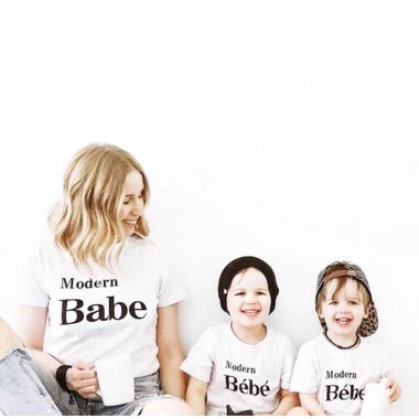 Today\'s Modern Bebe Modern Babe Shirt White for Mom