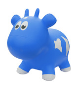 Farm Hoppers Inflatable Bouncing Cow Blue