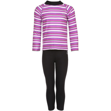 Kombi Body Snuggly Fleece Set Purple Wine Micro Stripe