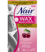 Nair Wax Ready-Strips with Skin Softening Cherry Oil