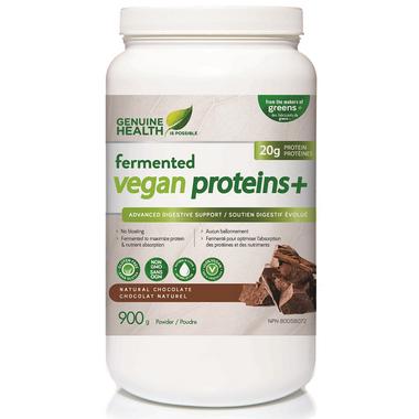 Genuine Health Fermented Vegan Proteins+ Natural Chocolate