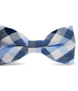 Mini Swag Light Blue Plaid Bow Tie