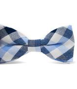 Mini Swag Light Blue Plaid Bow Tie