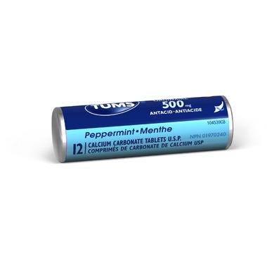 Tums Regular Strength Peppermint Roll