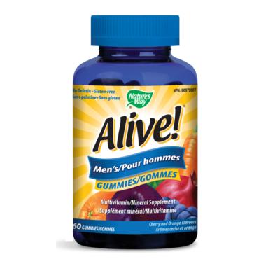 Nature\'s Way Alive! Mens\'s Gummies MultiVitamin & Mineral Supplement