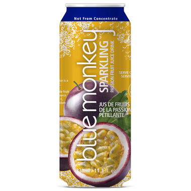 Blue Monkey Sparkling Passion Fruit Juice