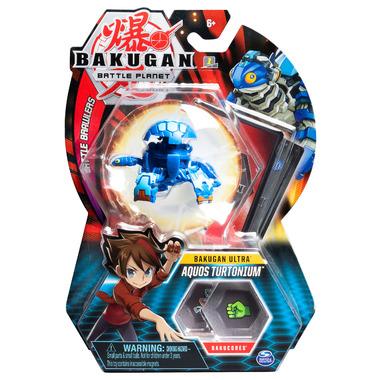Bakugan Ultra Aquos Turtonium Collectible Action Figure and Trading Card