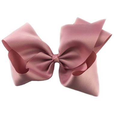 "Baby Wisp Pinch Clip Mariah 8\"" Bow Blush Pink"