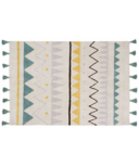 Lorena Canals Washable Rug Azteca Natural Vintage Blue