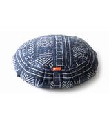 Halfmoon Round Meditation Cushion Indigo Mudcloth