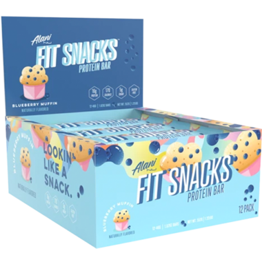 Alani Nu Fit Snacks Protein Bar Case Blueberry Muffin