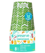 Preserve Compostables Hot Cups Green