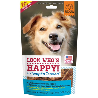 Look Who\'s Happy Chicken & Blueberry Crusted Dog Treats