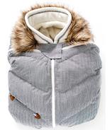 Juddlies Infant Car Seat Cover Herringbone Grey