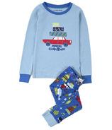 Little Blue House Kids PJ Set - Retro Festive