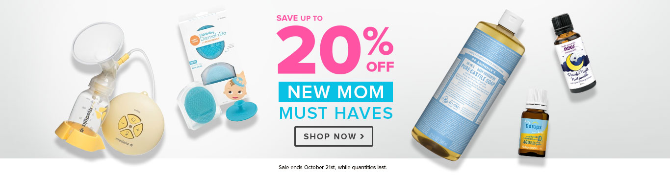 Save up to 15% off New Mom Must-Haves