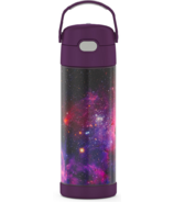 Thermos Stainless Steel FUNtainer Bottle with Spout Galaxy Plum