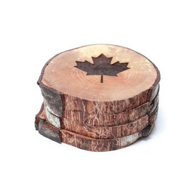 Woodrift and Co Maple Leaf West Coasters