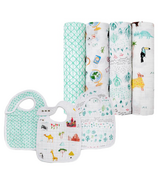 aden + anais Classic Swaddles and Bibs Bundle