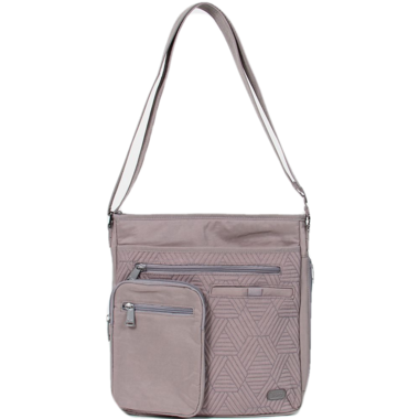 Lug Monorail Convertible Crossbody Bag Pearl Grey