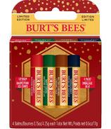 Burt's Bees Holiday Lip Care Gift Set 4 Baume à lèvres saisonnier doux