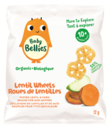 Baby Bellies Organic Lentil Wheelies Sweet Potato & Apple Puffs