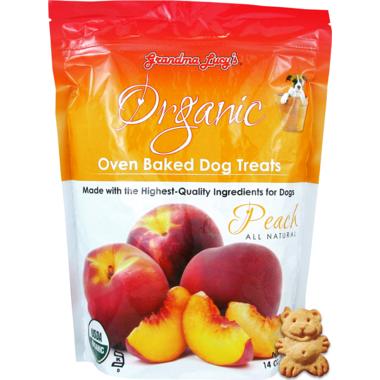 Grandma Lucy\'s Organic Oven Baked Peach Dog Treats