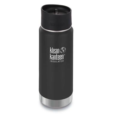 Klean Kanteen Stainless Steel Bottle with Cafe Cap Shale Black Matte