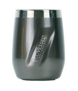 Eco Vessel PORT TriMax Insulated Stainless Steel Wine Tumbler Grey Smoke