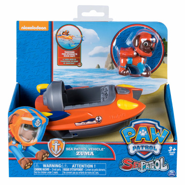 Paw Patrol Basic Themed Vehicles Sea Patroller Zuma