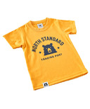 North Standard Trading Post Kids Primary Tee Golden Yellow & Navy
