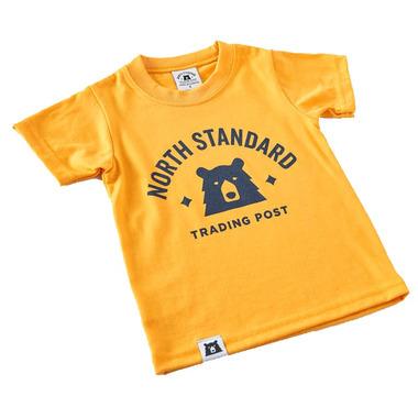 North Standard Trading Post Kids Primary Tee Golden Yellow & Navy