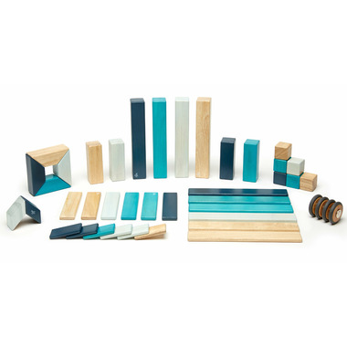 Tegu Magnetic Wooden Block Set Blues