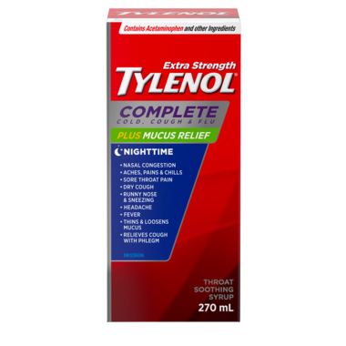 Tylenol Complete Cold, Cough & Flu Extra Strength Night Syrup