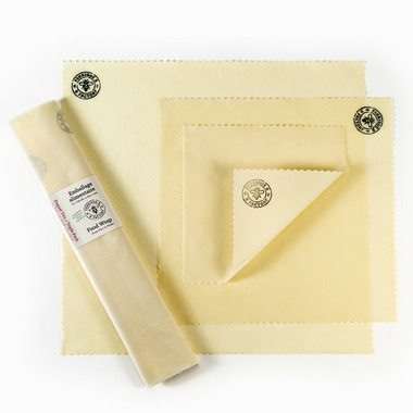 B Factory Organic Beeswax Food Wrap Trio Pack