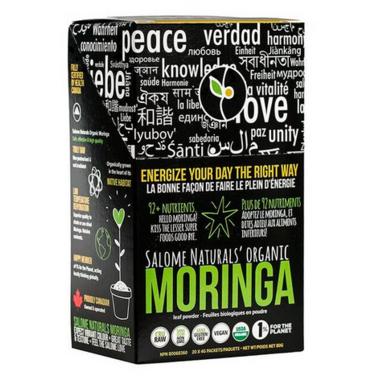 Salome Naturals Inc. Organic Moringa Leaf Powder Stick Pack