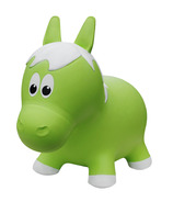 Farm Hoppers Inflatable Bouncing Horse Green