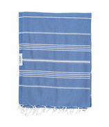 Lualoha Turkish Towel Classic Blanket Collection Denim