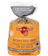 Plum.M.Good Organic Brown Rice Thins Wild Rice
