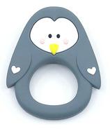 Little Cheeks Penguin Teether Grey