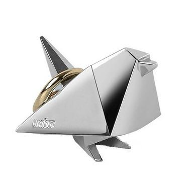 Umbra Origami Bird Ring Holder Chrome