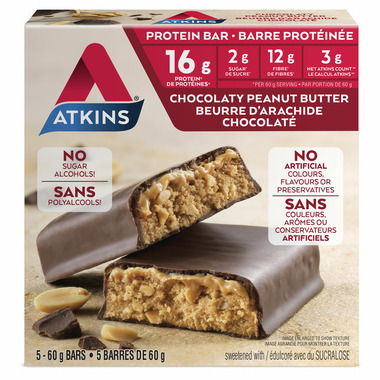 Atkins Chocolaty Peanut Butter Protein Bars
