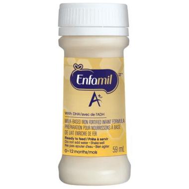 Enfamil A+ Infant Formula Ready to Feed Nursette Bottles