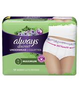 Always Discreet Incontinence Underwear Maximum Large