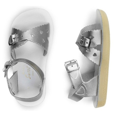 Salt Water Sandals Sweetheart Children\'s Sandal Silver