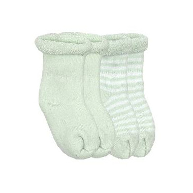 Kushies Terry Newborn Socks