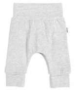 petit lem Heather Grey Grow With Me Pant 0M-24M