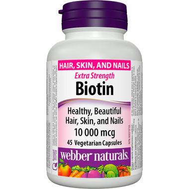 Webber Naturals Biotin Extra Strength 10, 000 mcg